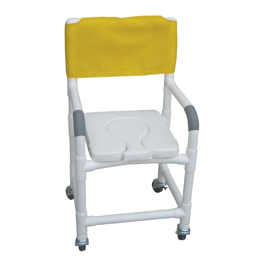 MJM PVC Shower Chair with Soft Seat - Soft Seat Deluxe Dual Usag ...