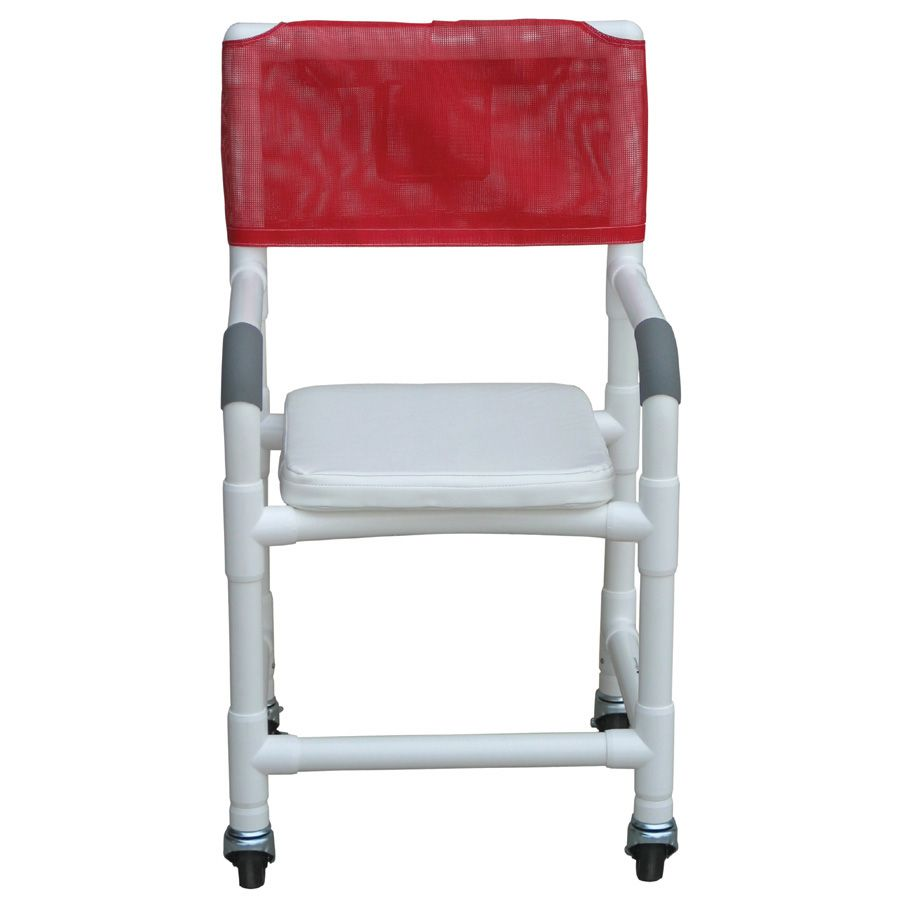 MJM PVC Shower Chair with Soft Seat - Solid, Each - Model 118-3-SSC