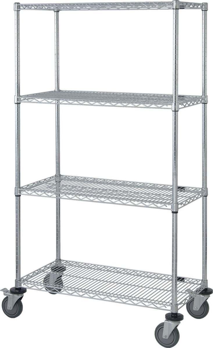 mobile shelf carts with wire shelf