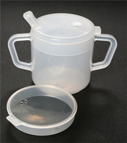 Mugs With Lids byAlimed - 6 Oz, 2 Lids, Box of 20 - Model 8085520
