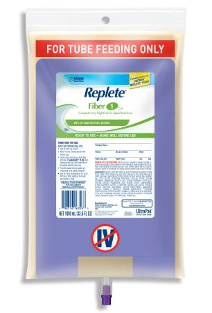 REPLETE® FIBER, SpikeRight® PLUS UltraPak®,1000 mL, 6 Units / Case