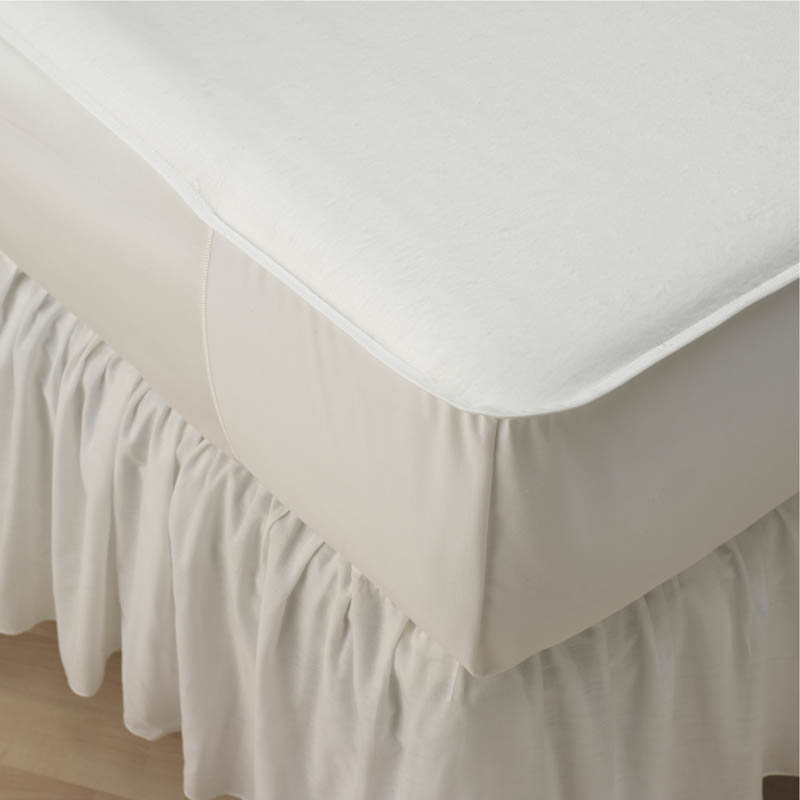 Medline Unbleached 50/50 Blended Mattress Pad - 36X76, 50C/50P, Box of 12 - Model MDT219332WS