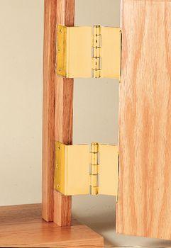 Part Number & Offset Door Hinge - Brass - Item #6523