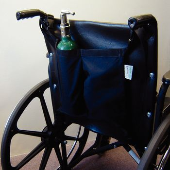Oxygen Tank Holder for Wheelchair - For D and E Tanks - Item #563432
