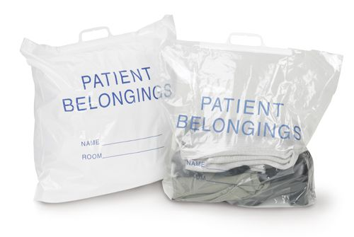 Patient Belongings Bag - Patiient Belonging, 20X20X4, Clear, Box of 250 - Model 70-51