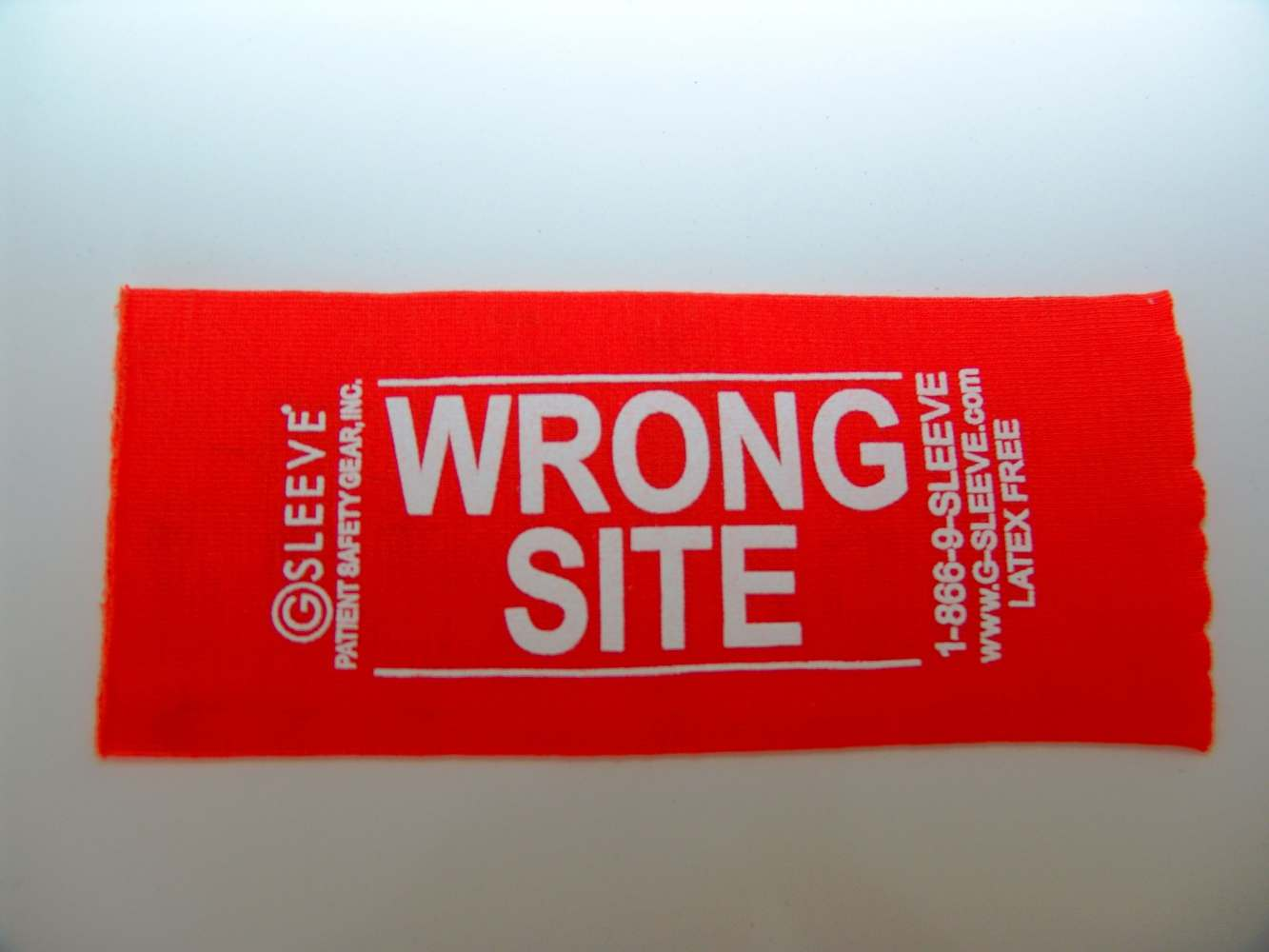 Patient Safety Gear WRONG SITE SLEEVE - ARM ORANGE, Box of 100 - Model GWS-04