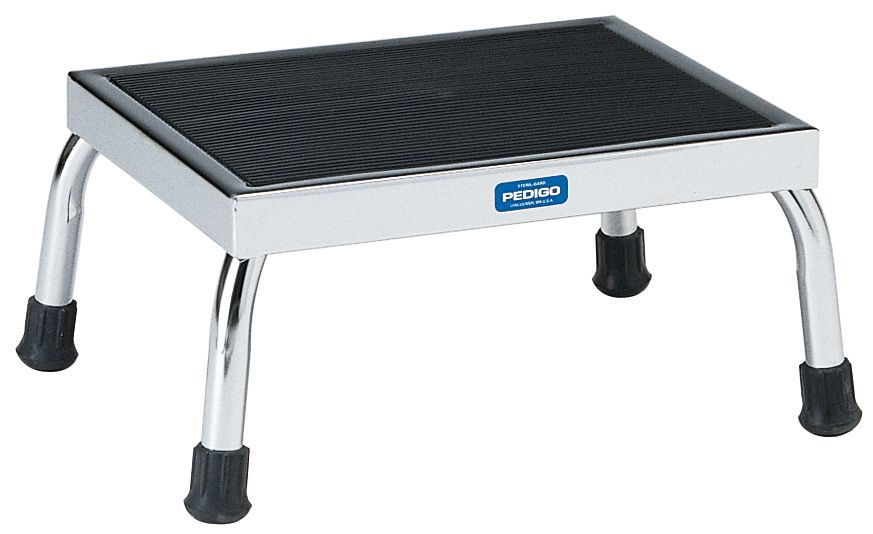 Pedigo Products Chrome Or Stainless Steel Foot Stool