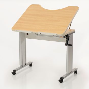 Personal Work Table w/ Tilt Top and Recess - Item #81621184