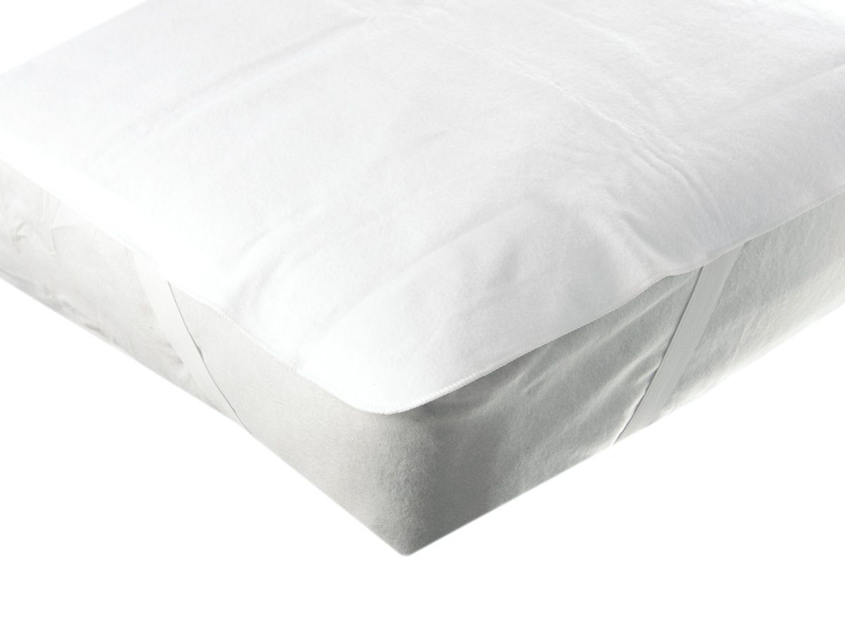 Polyester/Laminated Vinyl Mattress Pads with Anchor Band - 54X76, w/ Anchor Bands, Box of 12