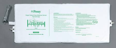 Posey Fall Management Bed Sensor Pad 13 X 32-1/2 Inch, Cord Length 95 Inch, Each - Model 8283