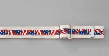 Posey Gait Belt 54 Inch Stars and Stripes Cotton, Each - Model 6549
