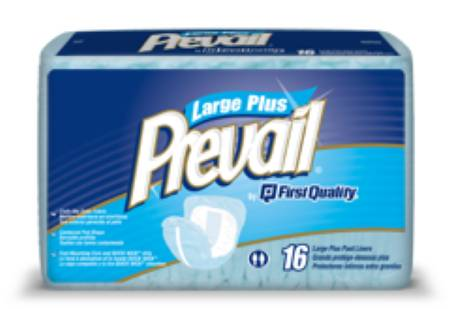 Prevail Pant Liner, 23 L X 18 W Inch Overnight Absorbency Super Absorbent Polymer, Pkg of 96