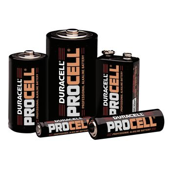 Procell Professional Alkaline Batterie - Size D, Carton of 12 - Item #925520