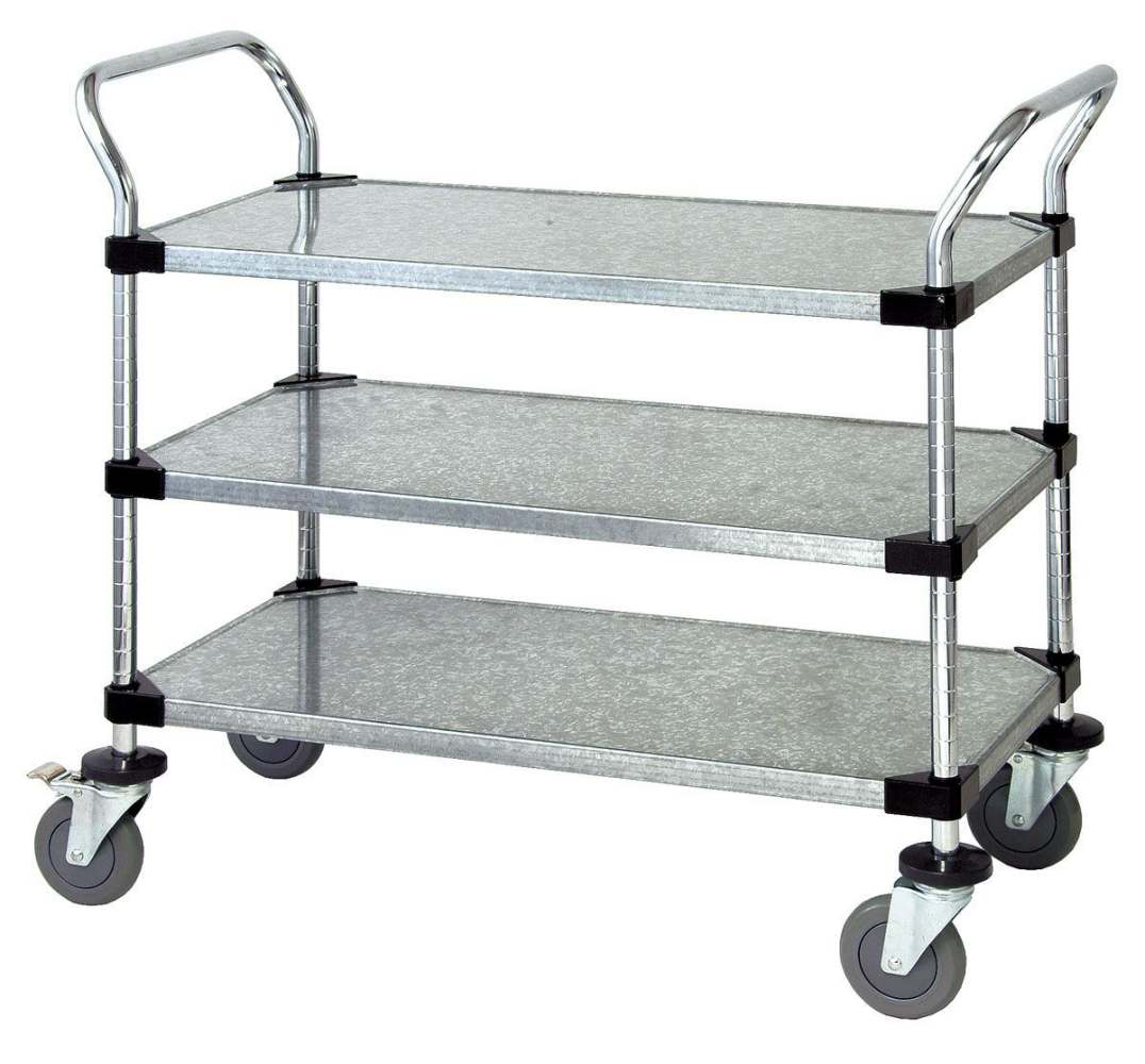 Quantum Storage Systems Wire Utility Cart - Chrm, 3Sld Shf, 18X36X37 ...