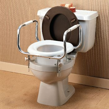 Phenomenal Raised Toilet Seat W Handles Item 6473 Creativecarmelina Interior Chair Design Creativecarmelinacom