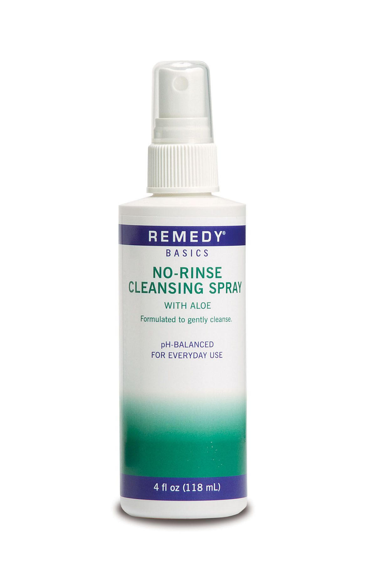 Remedy Basics No-Rinse Cleansing Spray - Cleanser, N/R, 4Oz, Box of 48 - Model MSC092SCSW04