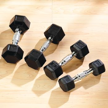 Rubber Hex Dumbbell - 20 lbs. - Item #081523075