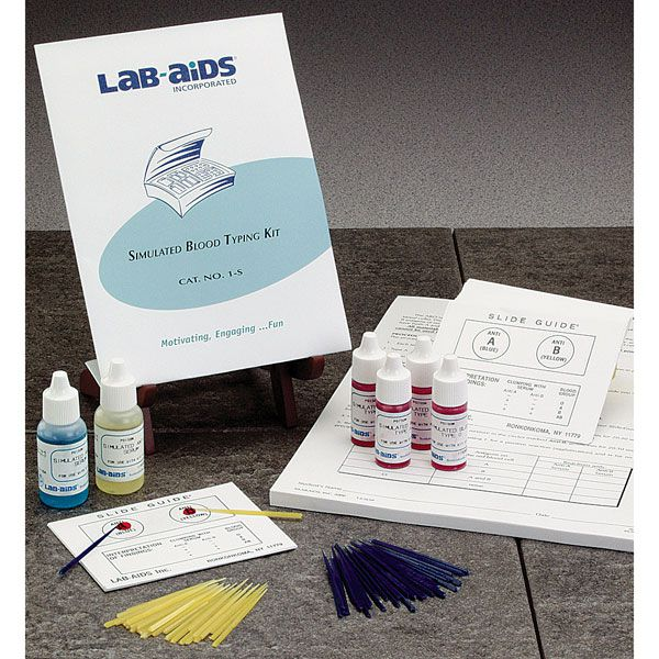 Simulated Blood-Typing Kit - Lab-Aids N - Simlted Blood Typing, Lab-Aids No. 1S, Each