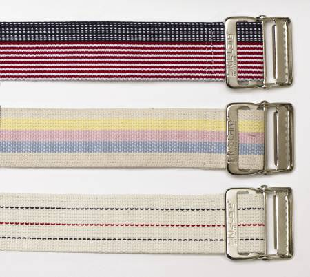 Skil-Care Gait Belt 60 Inch Pastel Stripes Cotton, Each - Model 252071