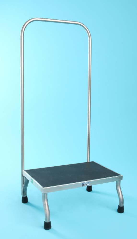 Stainless Steel Foot Stools With Handrail - w/ Handrail, Mri Safe, Each - Model 1017757100