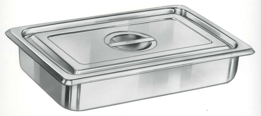 Stainless Steel Sterilization Tray With Lid - Perf Btm/Lid, 10.5X20X3.5, Each - Model MDS700233