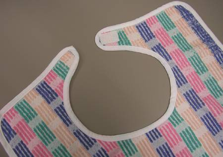 Standard Textile Bib Ties Reusable 86% Cotton / 14% Poly, Striped, Pkg of 12 - Model 97151098