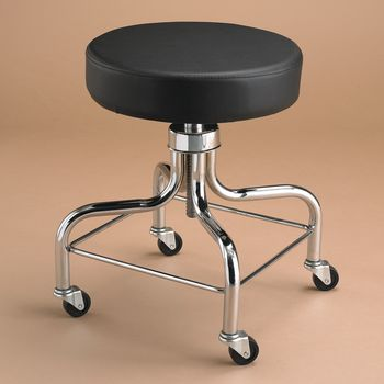 Therapy Stool w/ Square Foot Ring - Black - Item #081505890