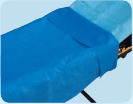 Tidi Products Everyday Stretcher Sheet, 40 X 90 Inch Blue Tissue / Poly, Pkg of 50 - Model 980928