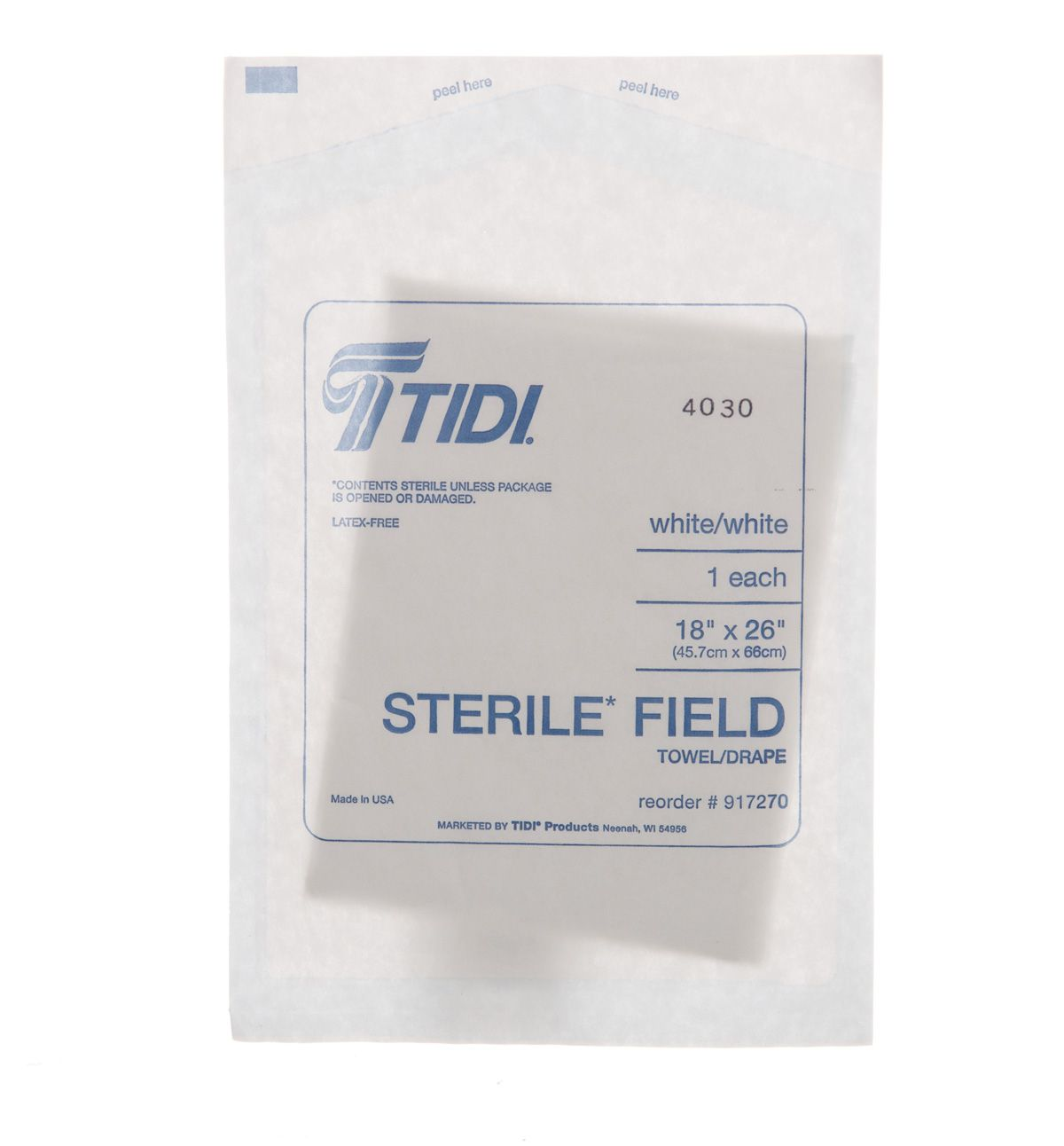 Tissue/Poly/Tissue Drape Sheet - Non-Fen, Sterile, T/P/T/, 18X26, Box of 300 - Model 917270