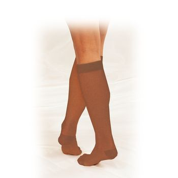 Truform Therapeutic Compression Stocking - Truform Therapeutic, 20-30mmHg, Warm Beige, Medium