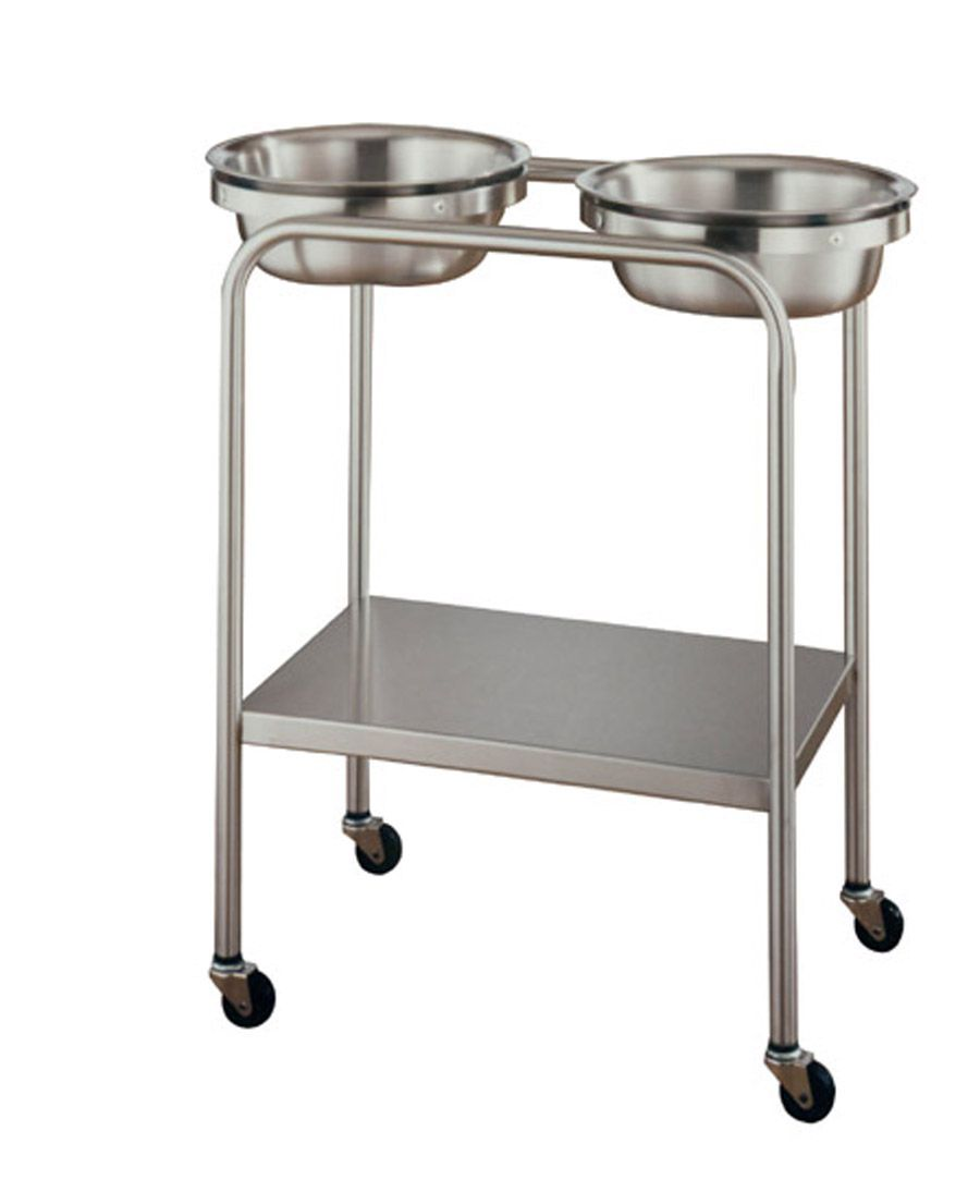 United Metal Fabricators Double Basin Solution Stand - w/ Shelf, 7 Qt, 7 qt us, Each - Model SS8360