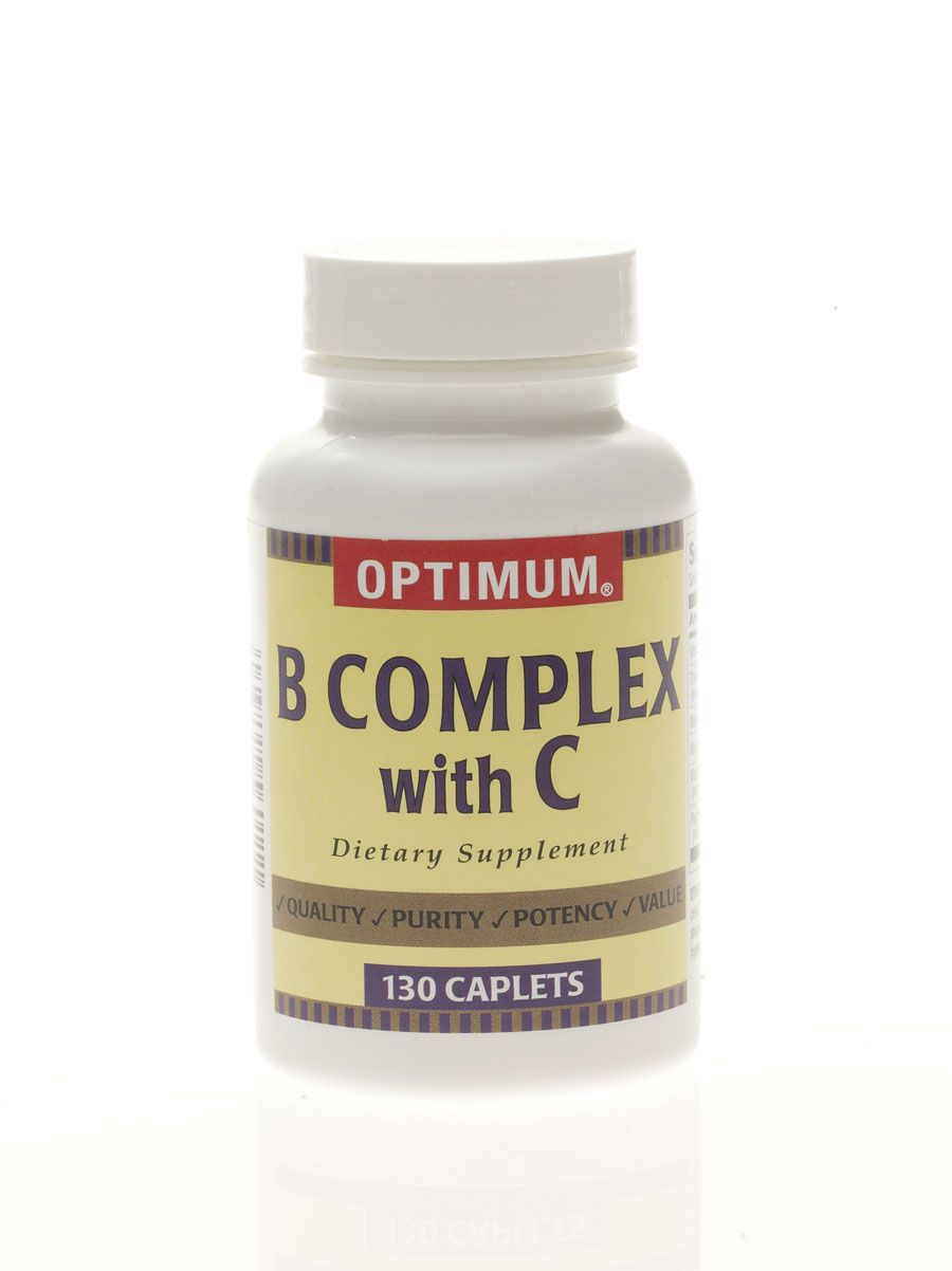 Vitamin B Complex with Vitamin C Caplet - Vit B Complex+C 300Mg Cpt 130/Bt, Each - Model 26080