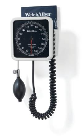 Welch Allyn Tycos Sphygmomanometer Wall Aneroid, 8 Foot Tubing, Each - Model 7670-02