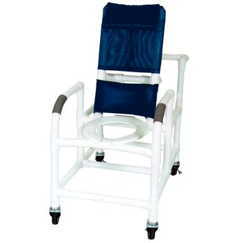 Wheeled Reclining Shower/Commode Chair w/ Pail - Item #567047