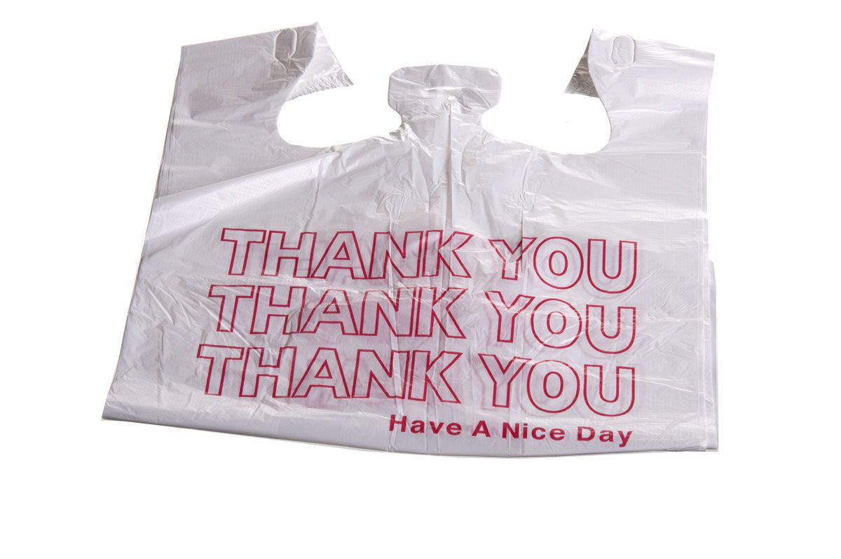 Wincup Plastic Grocery Bag Thank You