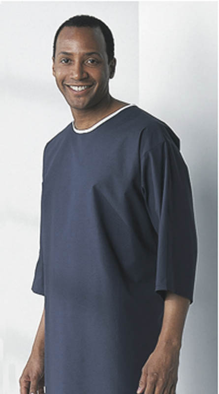 X-Ray Patient Exam Gown - Navy, 62\