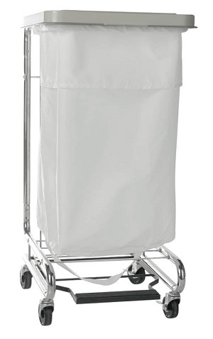 "Medline 200 Denier Nylon Hamper Bag - 25"", Drawcord, Whi, 44 Gallon, Box of 12 - Model MDT021349"