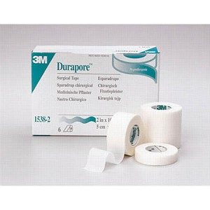 "3M Durapore Surgical Tape, 2"" x 10 yds. - Model 1538-2, Box of 6"