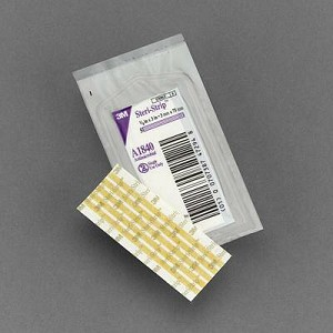 Steri-Strip Skin Closure, 1/8 X 3 Inch Non-woven Coated Backing, Light Brown, Box of 50