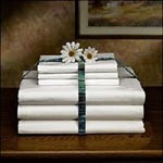 "Bed Sheets, 54"" x 72"", White - Model W23T130-54X72, Pkg of 6"