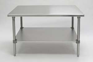 Bandy Stainless Steel Worktables Rounded Edge Gauge Stainless - 16 gauge stainless steel work table
