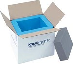 Cold Chain KoolTemp Molded Polyurethane Containers, Model U36-2-V, Pack of 6