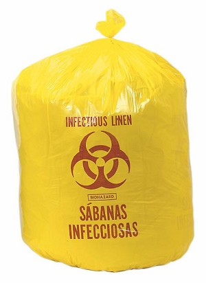 "Medline Biohazard Liner - Yellow, 31""X41"", 33 Gal 1.5 Mil, Box of 250 - Model NON024048"