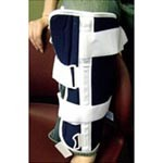 "DeRoyal Industries Canvas Knee Immobilizer, X-Large 16"", Blue, Each"