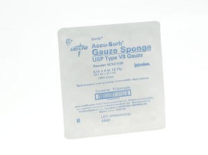 "Medline Woven Sterile Gauze Sponge - 4""X4"", 12Ply, Strl, Lf, 10/Tray - Model NON21426"