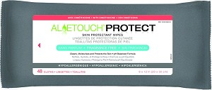 Medline Aloetouch PROTECT Dimethicone Skin Protectant Wipe - 9X13, Box of 12 - Model MSC263950