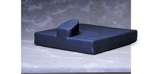 Foam Wheelchair Cushion with Pommel - w/ C, w/ Pommel, Nylx Cvr, 16X18X4In, Each - Model MSC0191618P