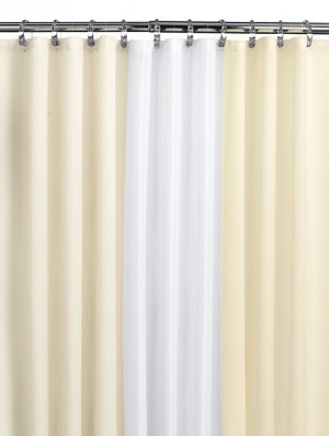 Medline Misty Morning Shower Curtain Collection - 68X72, No Mesh, Cream, Each - Model MMQ68X72CRE