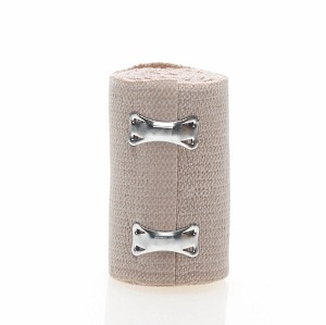 "Medline Non-Sterile Soft-Wrap Elastic Bandage - 3""X5Yd, Clips, Box of 50 - Model MDS046003"