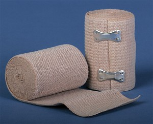 "Medline Non-Sterile Soft-Wrap Elastic Bandage - 6""X5Yd, Clips, Box of 10 - Model MDS046006"